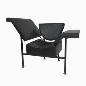 Greetings from Holland Leather Lounge Chair by Rob Eckhardt, 1983