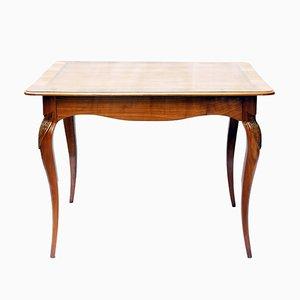 Mesa auxiliar modernista de madera de cerezo