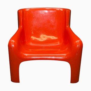 Italienischer Gaia Armlehnstuhl von Carlo Bartoli für Arflex, 1960er