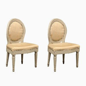 Antique Swedish Side Chairs, Set of 2