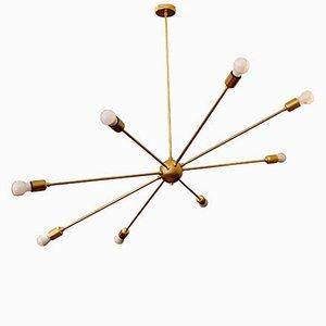 Lámpara Orbital Mid-Century con 8 brazos de latón de Juanma Lizana
