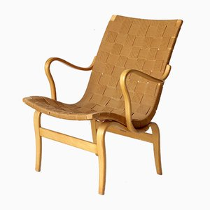 Swedish Eva Lounge Chair by Bruno Mathsson for Karl Mathsson, 1960s