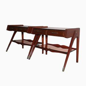 Tables de Chevet Mid-Century Géométriques, Italie, 1950s, Set de 2