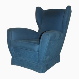 Mid-Century Italian High-Back Armchair, 1950s
