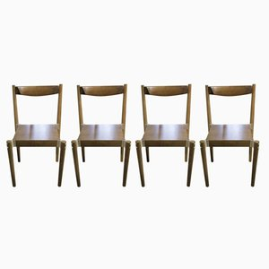 Czech Dining Chairs by Miroslav Navratil, 1970s, Set of 4