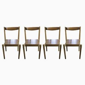 Tschechisch Esszimmerstühle von Miroslav Navratil, 1970er, 4er Set