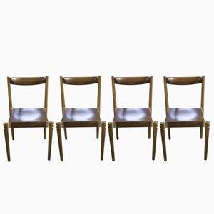 Tschechische Esszimmerstühle von Miroslav Navratil, 1970er, 4er Set