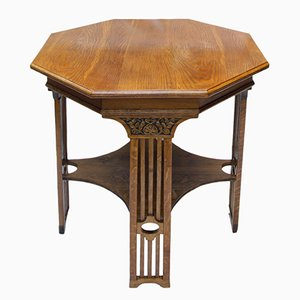 Art Nouveau Oak Occasional Table
