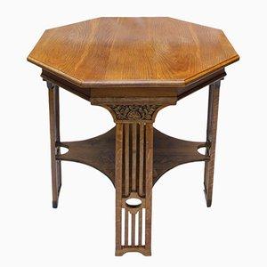 Tavolo di servizio Art Nouveau in quercia