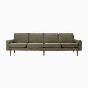 Sofá de cuatro plazas Mid-Century moderno