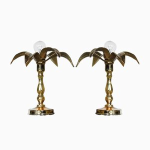 Lampes Hollywood Regency en Laiton de Massive, Belgique, 1970s, Set de 2