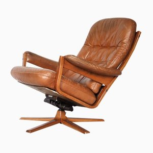 Swedish Swivel Lounge Chair from Gate Möbel, 1960s