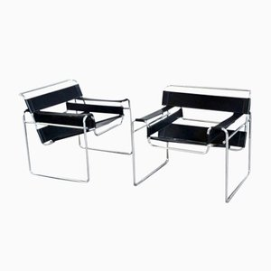 Wassily Armchairs by Marcel Breuer for Gavina, 1970s, Set of 2