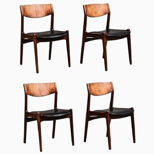Mid-Century Danish Rosewood Dining Chairs, 1968, Set of 4