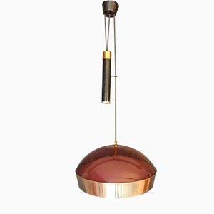 Lámpara colgante italiana ajustable de Stilux Milano, años 50