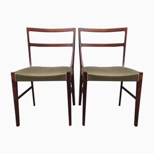 Dänische Mid-Century Palisander Stühle von Bernhard Pedersen & Son, 2er Set