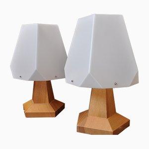 Lámparas de mesa de noche suizas vintage de Rudolf Dörfler, años 60. Juego de 2