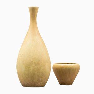 Conjunto de jarrón y recipiente vintage de Carl-Harry Stålhane