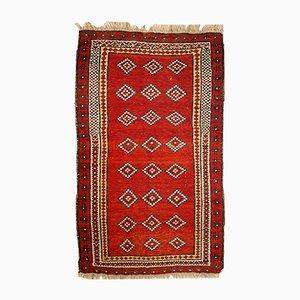 Alfombra Gulyam uzbeka antigua hecha a mano, años 10