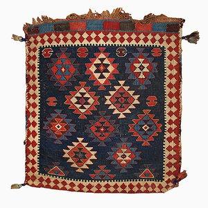 Antique Russian Kuba Handmade Bag Rug, 1880s