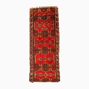 Alfombra Yastik turca vintage hecha a mano, años 20