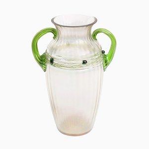 Vase Bohemien Antique Art Nouveau en Verre Irisé de Wilhelm Kralik Sohn