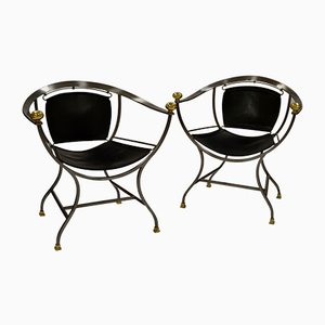 Italian Pompei Armchairs by Alberto Orlandi, 1970s, Set of 2