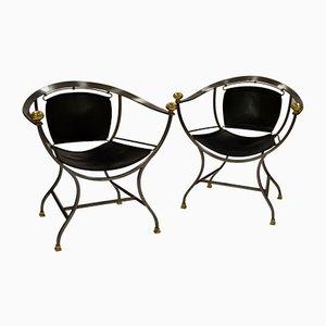 Italienische Pompei Armlehnstühle von Alberto Orlandi, 1970er, 2er Set