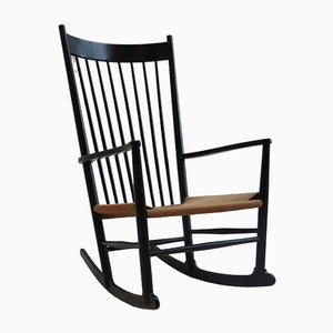 Ebonised J16 Rocking Chair by Hans J Wegner for FDB Mobler, 1967