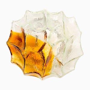 Aplique de vidrio texturizado en ámbar, años 60