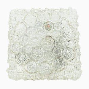 Aplique Mid-Century de vidrio, años 70