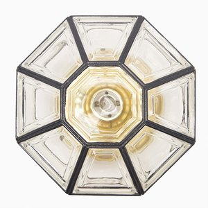 Clear Glass Sconce from Limburg, 1960s
