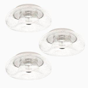 Glass Donut Wall or Ceiling Lamps from Doria, 1960s, Set of 3