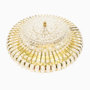 Hollywood Regency Crystal Ceiling Lamp