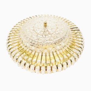 Hollywood Regency Crystal Ceiling Lamp