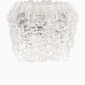 Mid-Century Hängelampen mit strukturiertem Glas, 1960er, 2er Set