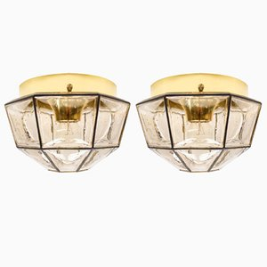 Mid-Century Geometrical Glass Sconces from Limburg, 1960s, Set of 2