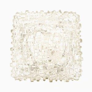 Lámpara Mid-Century grande con difusor de vidrio estructurado, años 60