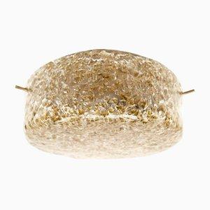 Lampada da parete o soffitto vintage in vetro di Murano, anni '60, set di 3