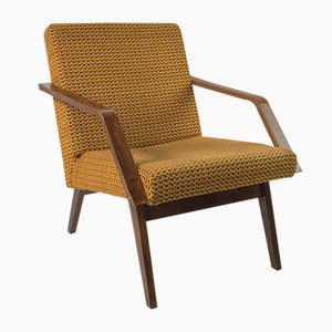 Vintage Saffron Colored Lounge Chair