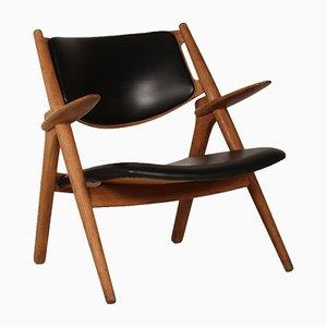 Chaise Dent de Scie CH 28 en Chêne par Hans J. Wegner pour Carl Hansen , 1950s