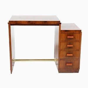 Italienischer Art Deco Schreibtisch mit Vier Schubladen, 1930er