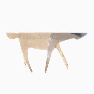 Tavolo Cavallo placcato in argento di Gio Ponti per Lino Sabattini, 1978