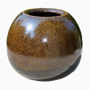 Vase en Grès Sphérique par Horst Kerstan