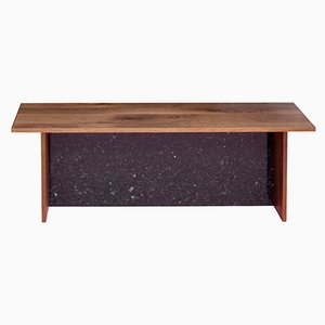 ADITYAS Bench in Recycled Oak and Emerald Pearl Granite by Johanenlies