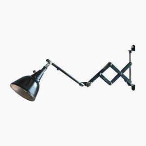 Lámpara de acordeón pequeña negra de Curt Fisher para Midgard