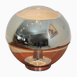 Lámpara de mesa vintage de espejo cromado y vidrio de Peill & Putzler