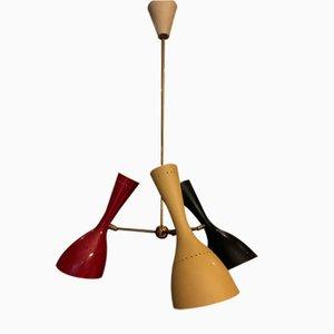 Lámpara de techo italiana Mid-Century de Stilnovo, años 50