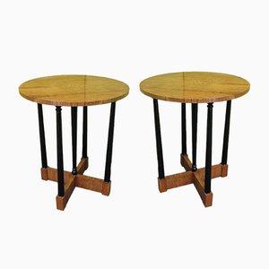 Ash Side Tables, 1940s, Set of 2