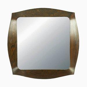 Savino Palisander Spiegel von Campo e Graffi für Home, 1960er